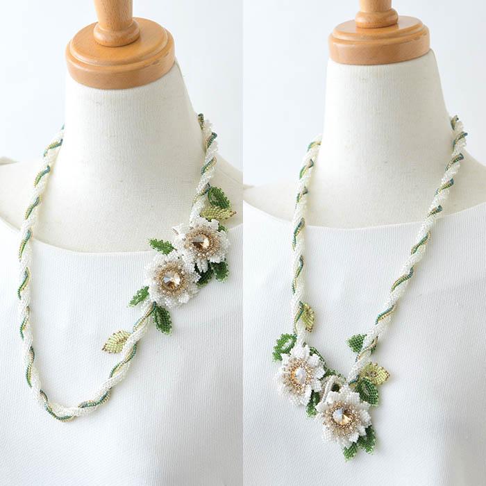 ★10/12 NEW★ whiteflower necklace 【作家:荒木晴美(atelier embellir)】