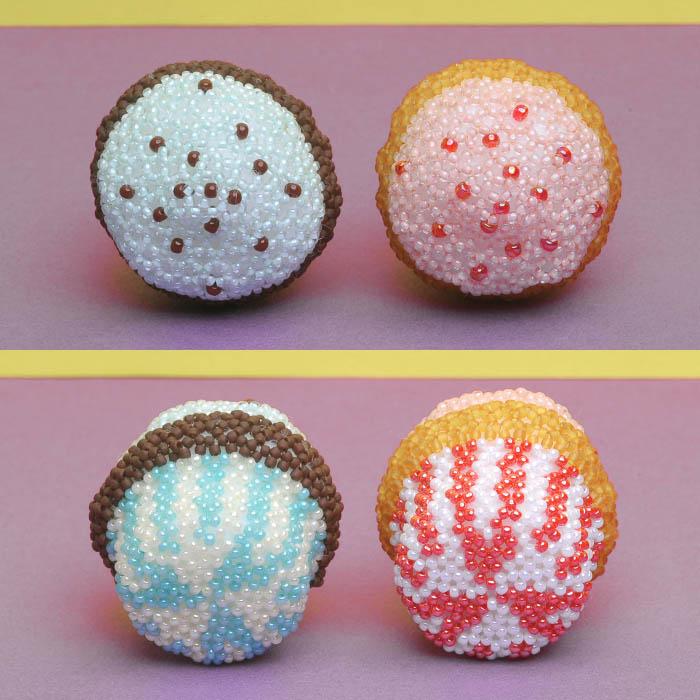 ビーズで編みぐるみ〜カップケーキ〜  ビーズマニア