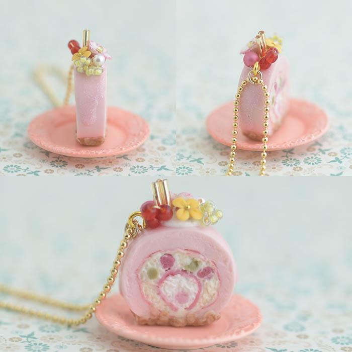 ボンボニエール 桜のロールケーキ 【作家:NARUMIDO】