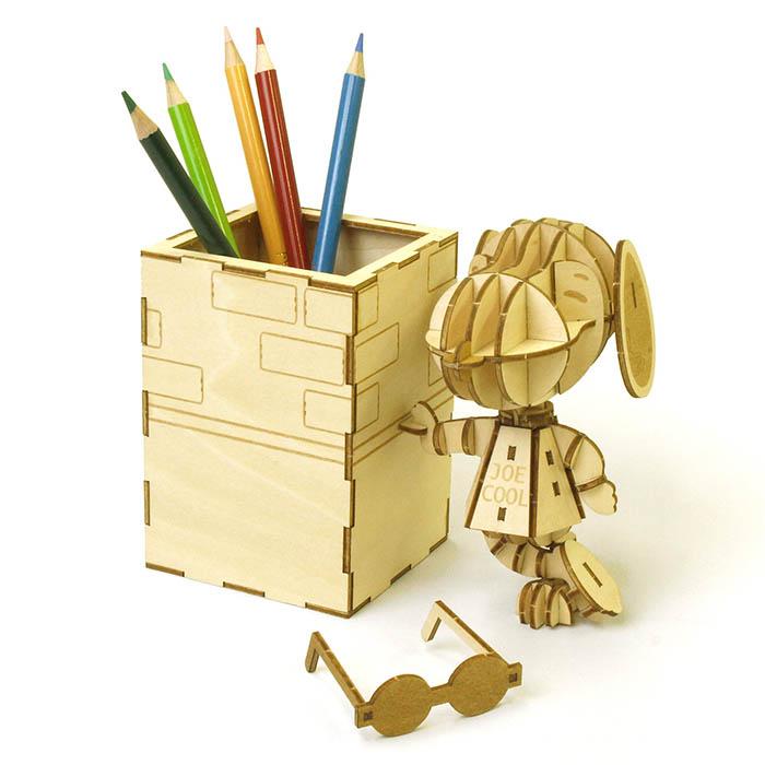 立体パズル 木製 ki-gu-mi ジョー・クール ペンスタンド