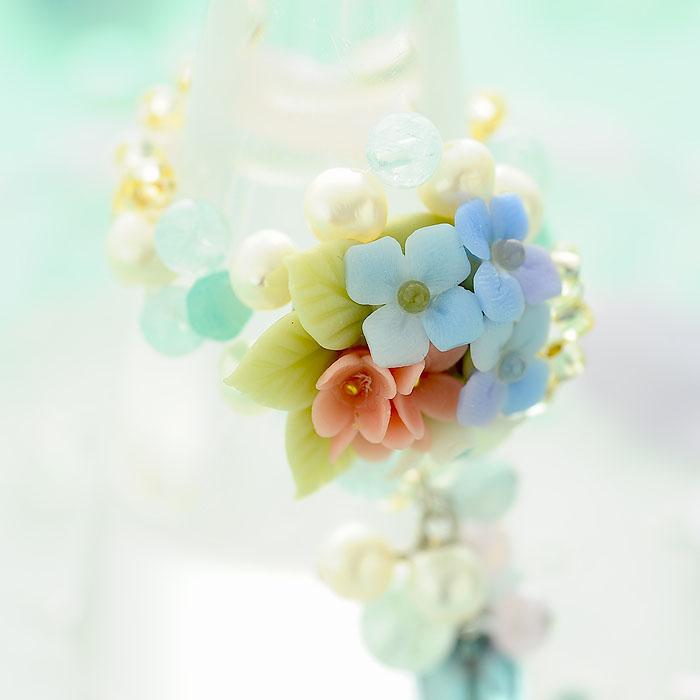 紫陽花ブーケとアクアマリンのリング 【作家:NARUMIDO】