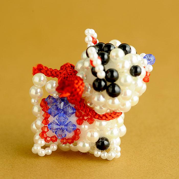 ホビックス 開運・子犬の置飾り※もうせん、金屏風、開運招福台紙付き  BK-70