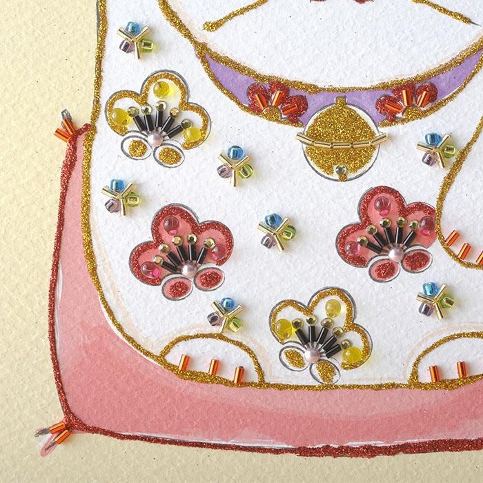 ビーズファクトリー 〜Beads Decor〜縁起物・まねきねこ ※額は別売り  BHD-129