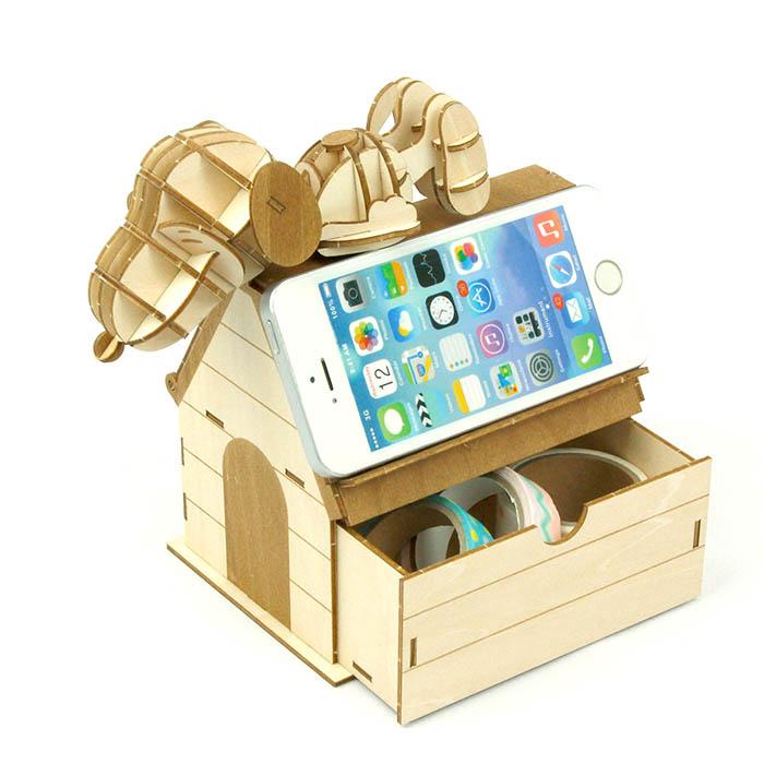 立体パズル 木製 ki-gu-mi スヌーピー コインバンク