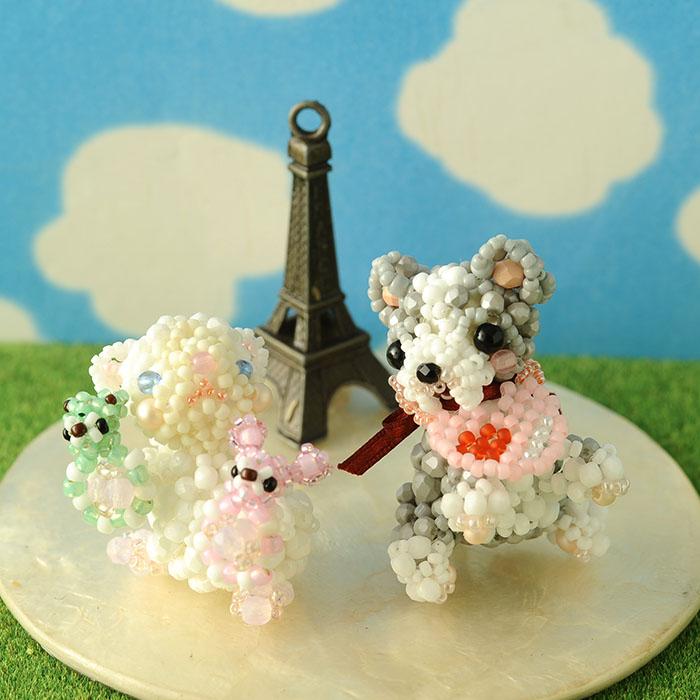 フレンチブルドッグ&子猫セット  ビーズマニア