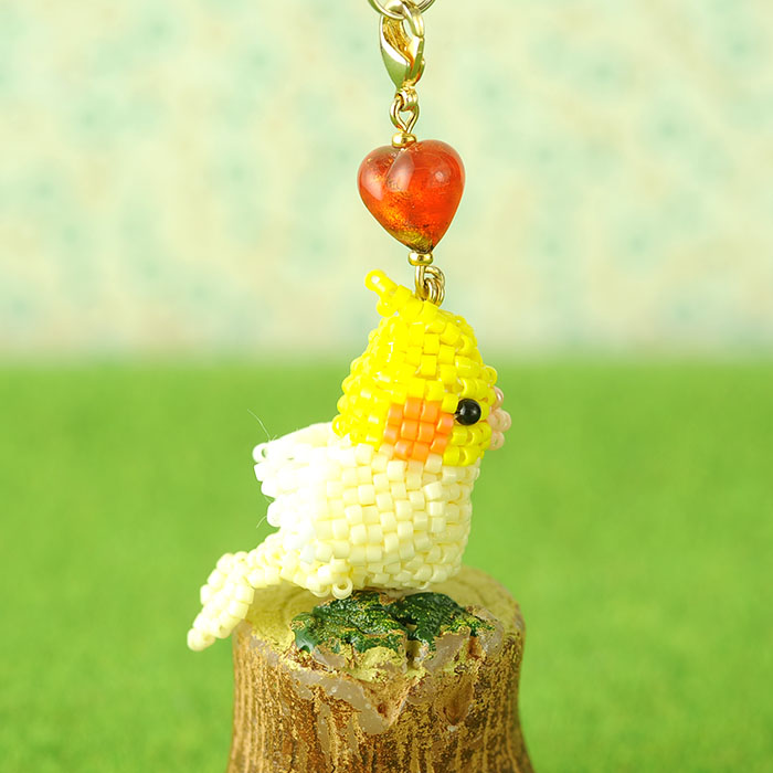 Happy☆Birdストラップ(オカメインコ)  S-64 【作家:Shinon あわいしのぶ】