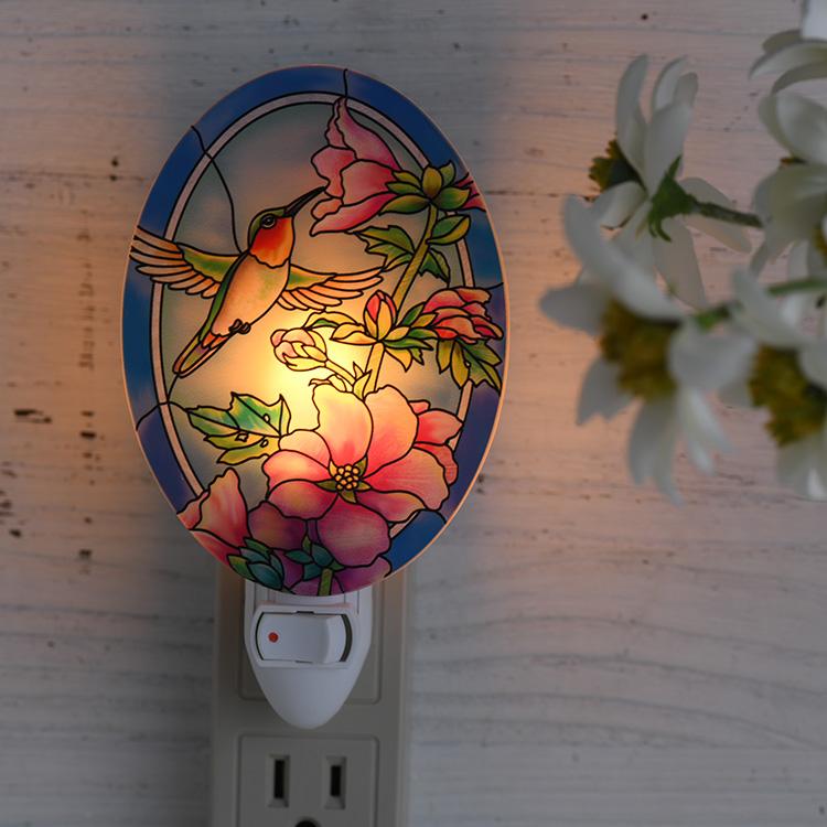 ナイトライト 花とハチドリ  40026