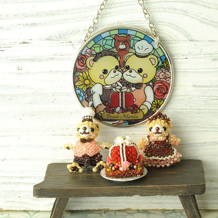 ステンドグラス サンキャッチャー 壁掛け ビーズマニアオリジナル☆サンキャッチャー  【お取り寄せ商品】