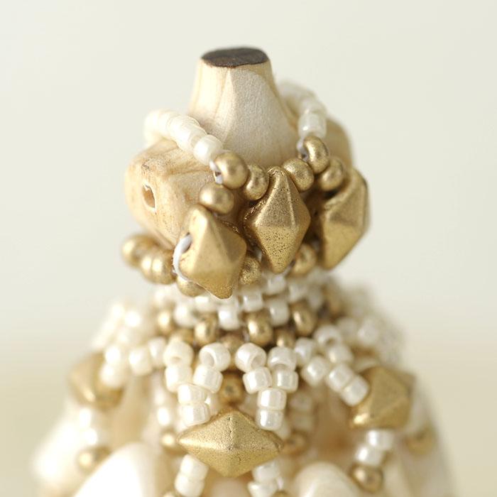 ビーズステッチで作るハニカムトルソードレス〜リアーナ・ホワイト〜  【作家:漆原昌美(Mai My Beads)】