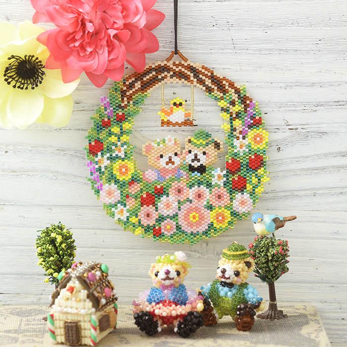 ステッチリース〜春のお散歩〜