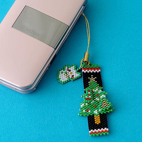 Merry Christmasペヨーテ&シェイプストラップ  OT-069 【作家:青木恵理(Blue-Bell)】
