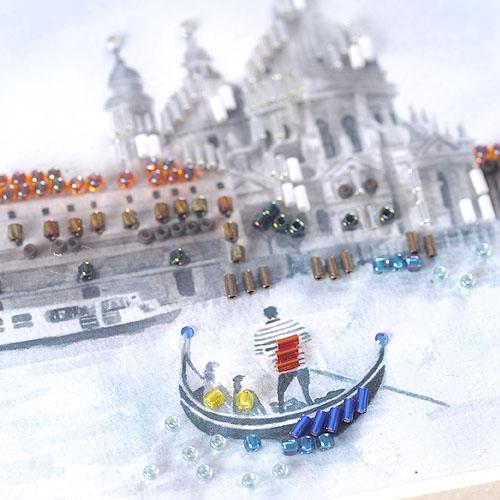 【現在庫分☆限定SALE中】 ビーズファクトリー 〜Beads Decor〜ベネチア 専用額セット  BHD-62W