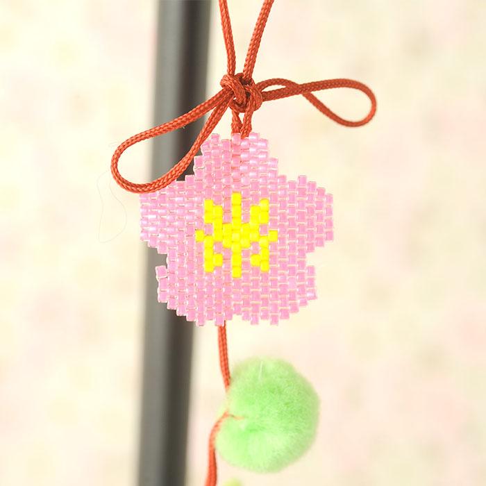 【現在庫分☆限定SALE中】 ビーズファクトリー シェイプドステッチでつくる つるし雛キット〜鶯・梅〜  BKF-533