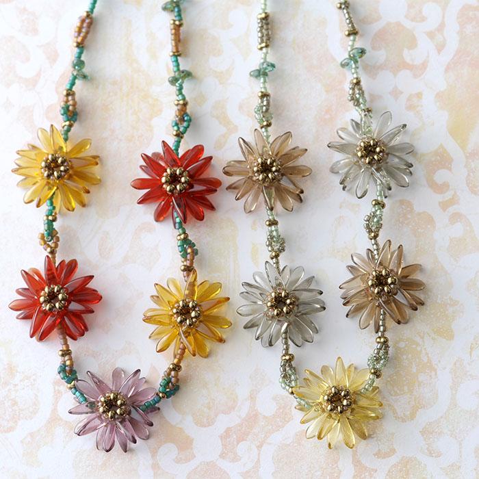 フラワーティアラ(カラー)  【作家:漆原昌美(Mai My Beads)】