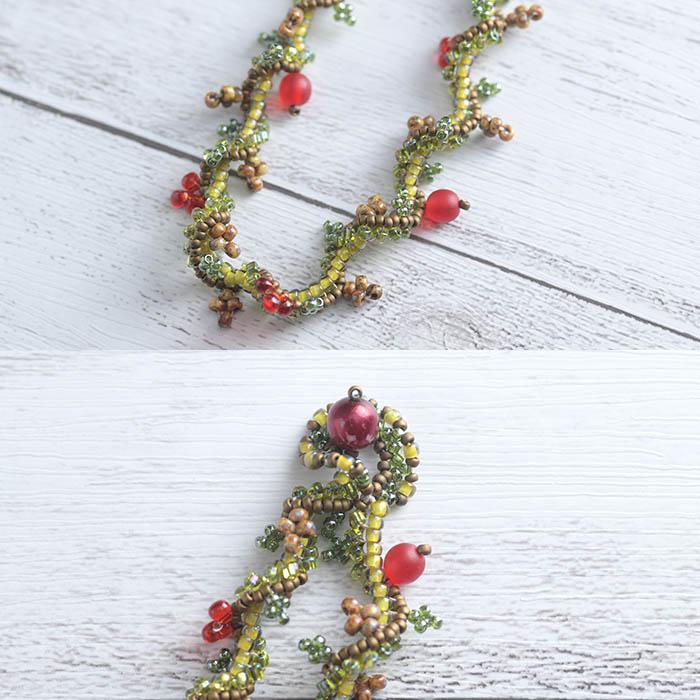 Petit Fruit ネックレス(赤)  NE-132 【作家:新井桂子(Fairy-R)】