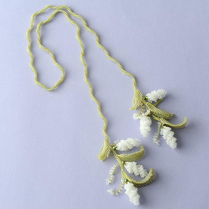 ☆2/4 再入荷☆ Lilac ホワイト  【作家:荒木晴美(atelier embellir)】
