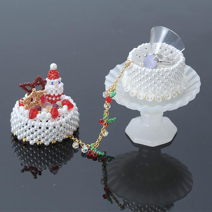 【コフレ・ドゥ・ガトー】サンタクロースのクリスマスケーキ ビーズマニア