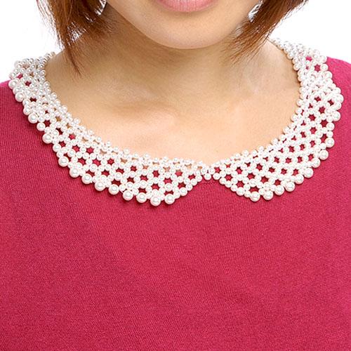 【現在庫分☆限定SALE中】 ビーズファクトリー 付け襟ネックレスキット〜フェミニン・レース〜  BFK-365