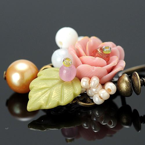 八重桜のピアスorイヤリング  【作家:NARUMIDO】