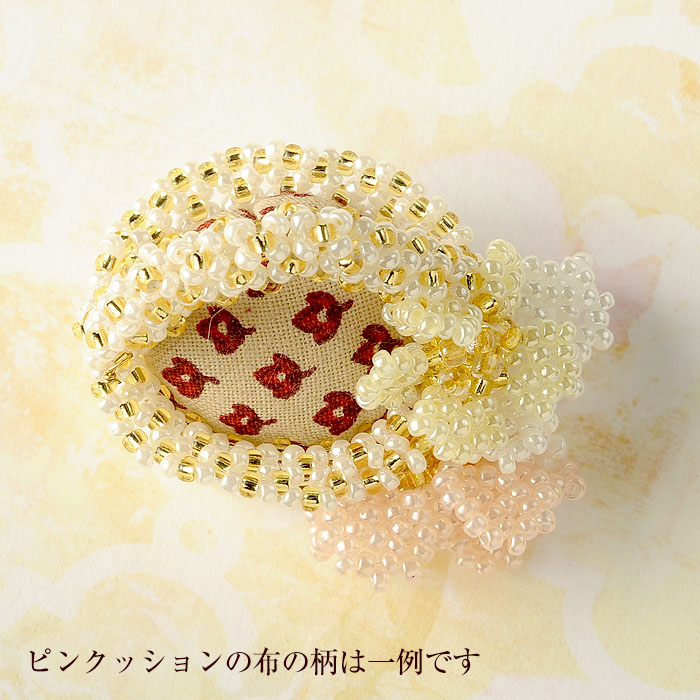 ☆6/8 再入荷☆ ピンクッション・フラワーバスケット  【作家:渡辺七重(N℃)】