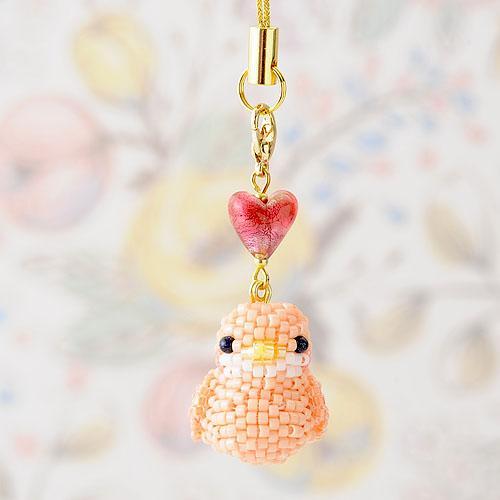 Happy☆Birdストラップ (ピンク)  S-50a 【作家:Shinon あわいしのぶ】