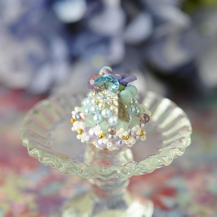 ☆7/30 再入荷☆ 紫陽花のドームケーキ  【作家:NARUMIDO】