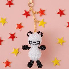 【モチーフクロッシェ】TINY BEARS〜Panda〜  ビーズマニア