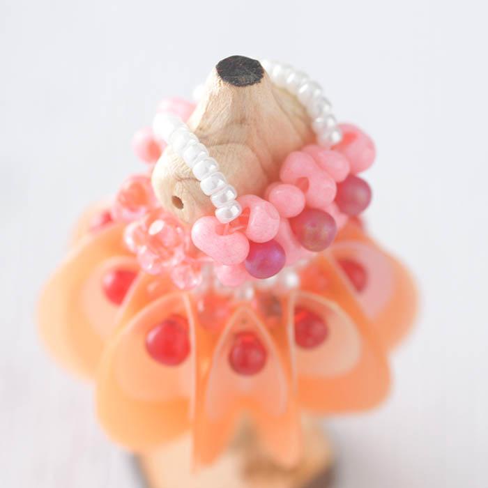 ビーズステッチで作るハニカムトルソードレス〜シンシア・ピンク〜  【作家:漆原昌美(Mai My Beads)】