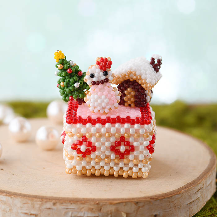 ★10/14 NEW★ ビーズで編みぐるみ・カットケーキ〜No5. クリスマス〜  ビーズマニア