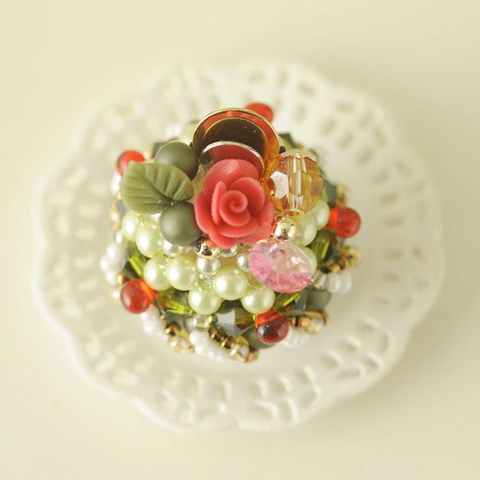 ☆3/30 再入荷☆ 抹茶のドームケーキ  【作家:NARUMIDO】