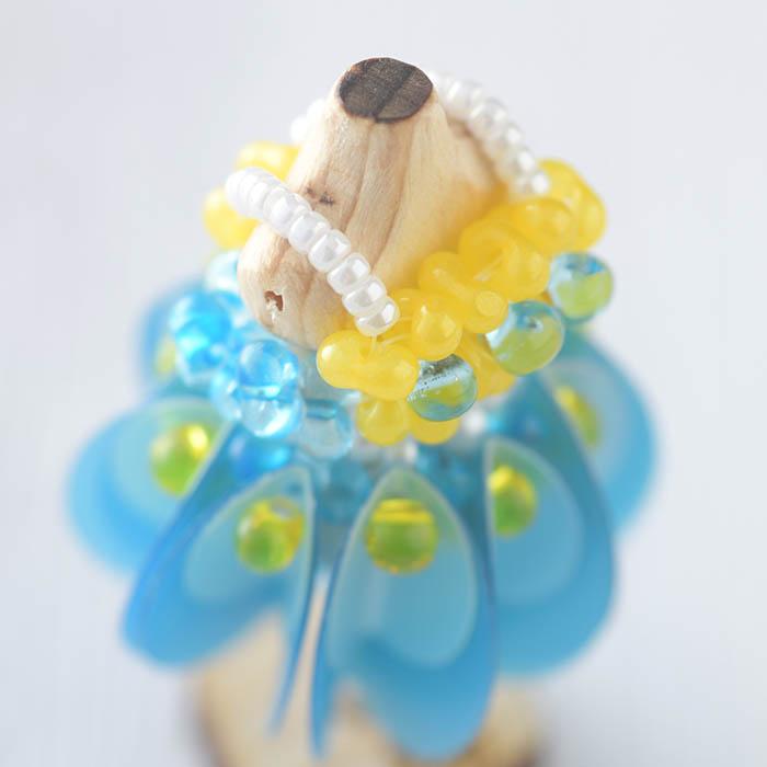 ☆4/8 再入荷☆ ビーズステッチで作るハニカムトルソードレス〜シンシア・ブルー〜  【作家:漆原昌美(Mai My Beads)】