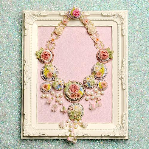 Flower Garden(コンテスト作品)  【ビーズ 刺繍】 【作家:NARUMIDO】