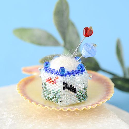 """Fish bowl pincushion〜mini〜  【作家:しのはらみわ(Little""""B"""".)】"""