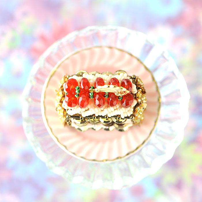 【復刻版】ミルフイユ・オ・フレーズ 【ハンドメイド ビーズ 手作り キット】 ビーズマニア