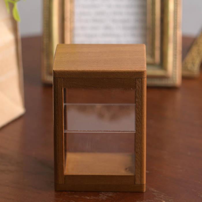 ミニチュア木製棚 ブラウン  No.10212