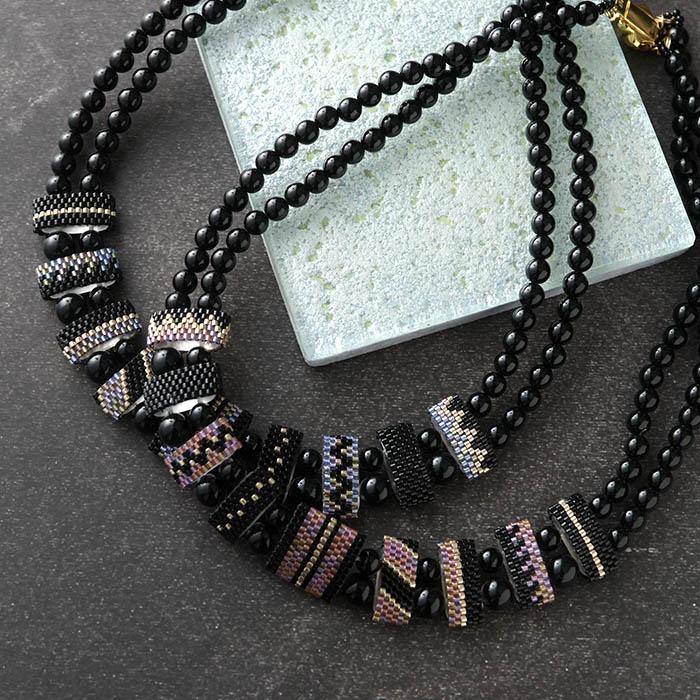 mosaic necklace 【作家:荒木晴美(atelier embellir)】