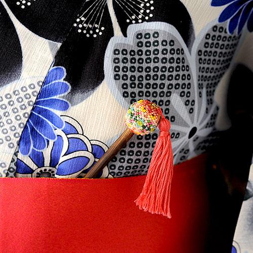 手毬かんざし〜紅緋べにひ〜  ビーズマニア