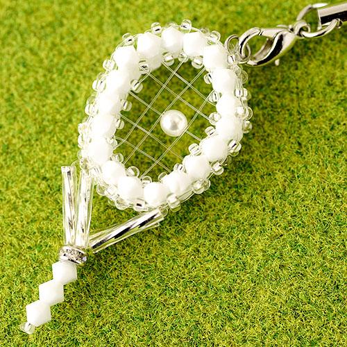 テニスラケットVol.2ストラップキット(ホワイト) 【作家:渡辺七重(N℃)】