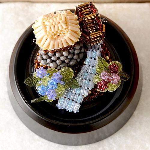 スノードーム〜紫陽花の季節〜  ビーズマニア