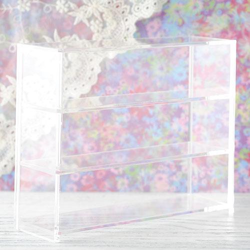 アクリル家具 ショーケース  H14.7cm×W18.6cm×D5.6cm AC30-3段