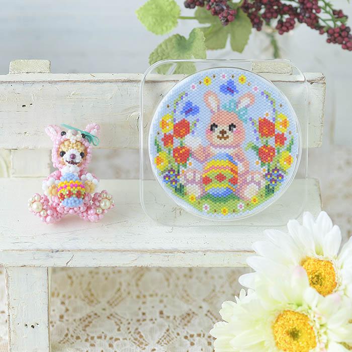 ステッチコースター〜Happy Easter〜 ビーズマニア