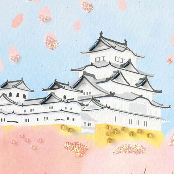 ビーズファクトリー 〜Beads Decor〜桜と城(4月) ※額は別売り BHD-152