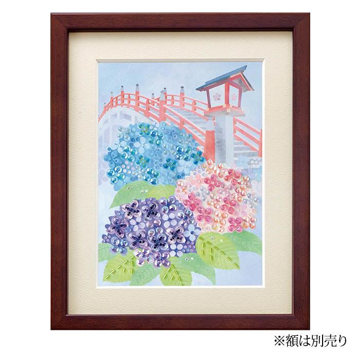 ビーズファクトリー 〜Beads Decor〜紫陽花(6月) ※額は別売り BHD-154