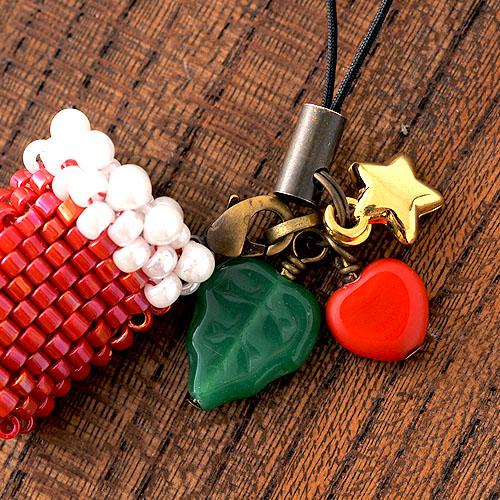 """クリスマスブーツのストラップ(赤)  K-308 【作家:しのはらみわ(Little""""B"""".)】"""