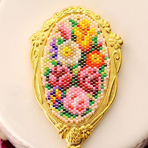 〜花束〜ハンドミラー  ビーズマニア