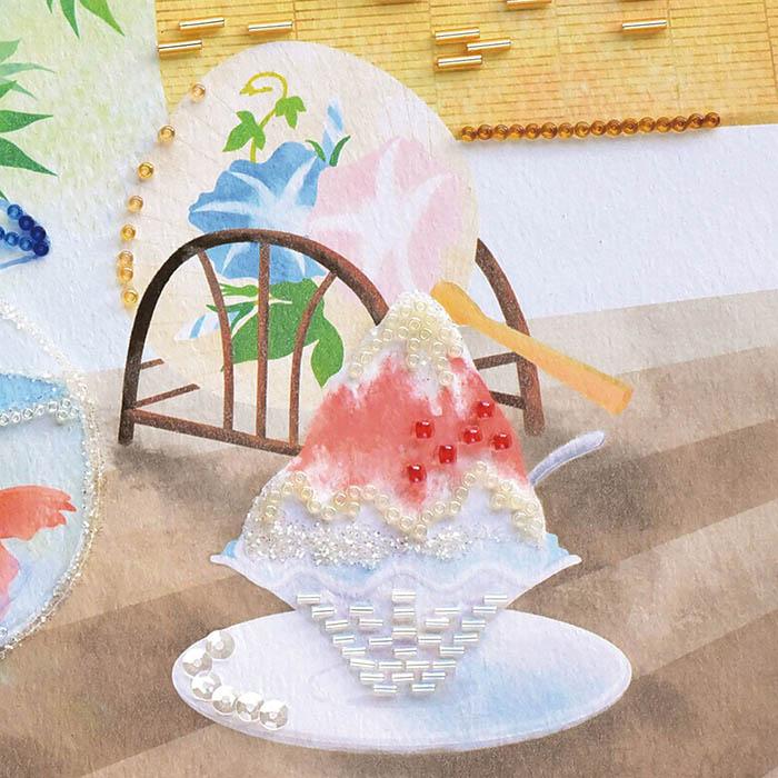 ビーズファクトリー 〜Beads Decor〜夏の縁側(8月) ※額は別売り BHD-156