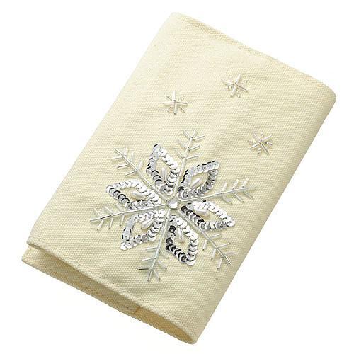 TOHO ≪ビーズ・デコ刺繍キット≫雪柄のブックカバー  BDK-6
