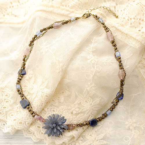 瑠璃色のネックレス  【作家:渡辺七重(N℃)】