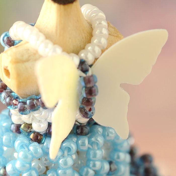 ☆3/22 再入荷☆ ビーズステッチで作るハニカムトルソードレス〜エアリエル・トルコブルー〜 【作家:漆原昌美(Mai My Beads)】