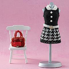 【4月17・18日の2日間限定!特別価格】 TOHO 千鳥格子のミニワンピース&ボストンバッグ  Dress series2-106